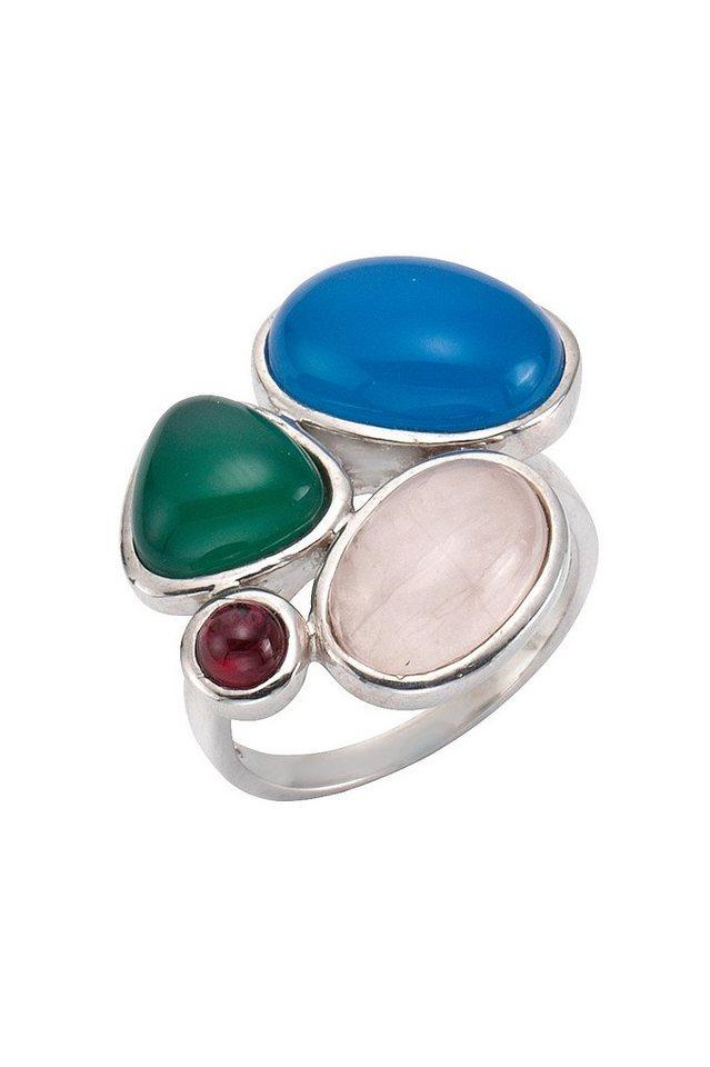 firetti Ring mit verschiedenen Edelsteinen in Silber 925/bunt