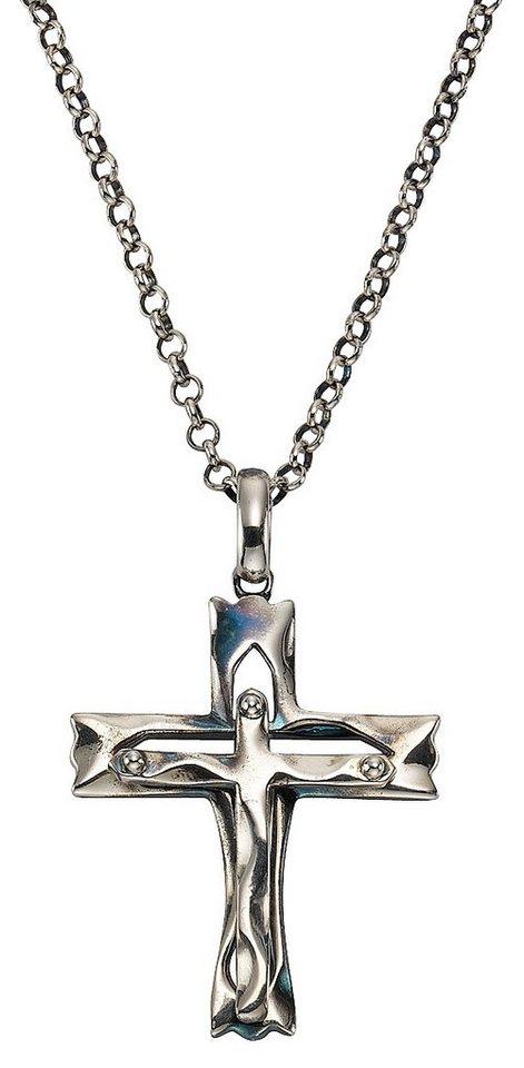 firetti Kette mit Anhänger , »Kreuz« in Silber 925