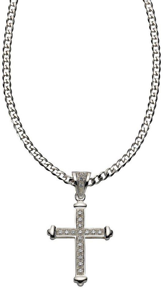 firetti Anhänger mit Zirkonia, »Kreuz« in Silber 925