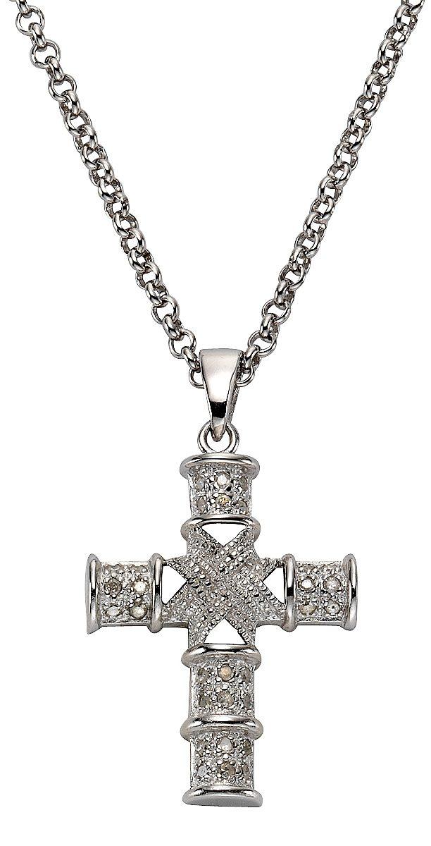 firetti Anhänger mit Diamanten, »Kreuz«
