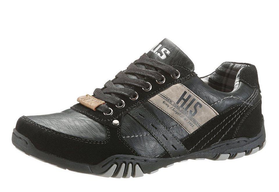 H.I.S Sneaker mit Logo Print in schwarz