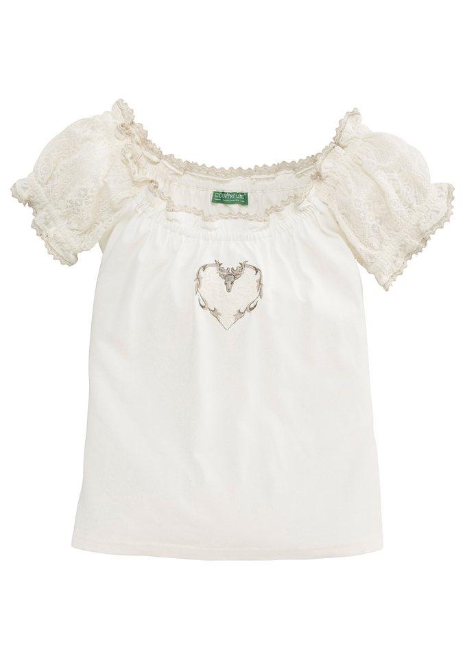 Country Line Trachtenshirt Damen im Carmen-Look in creme