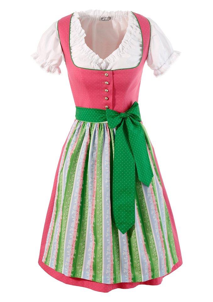 Hannah Dirndl in modischen Farben (3tlg.) in pink
