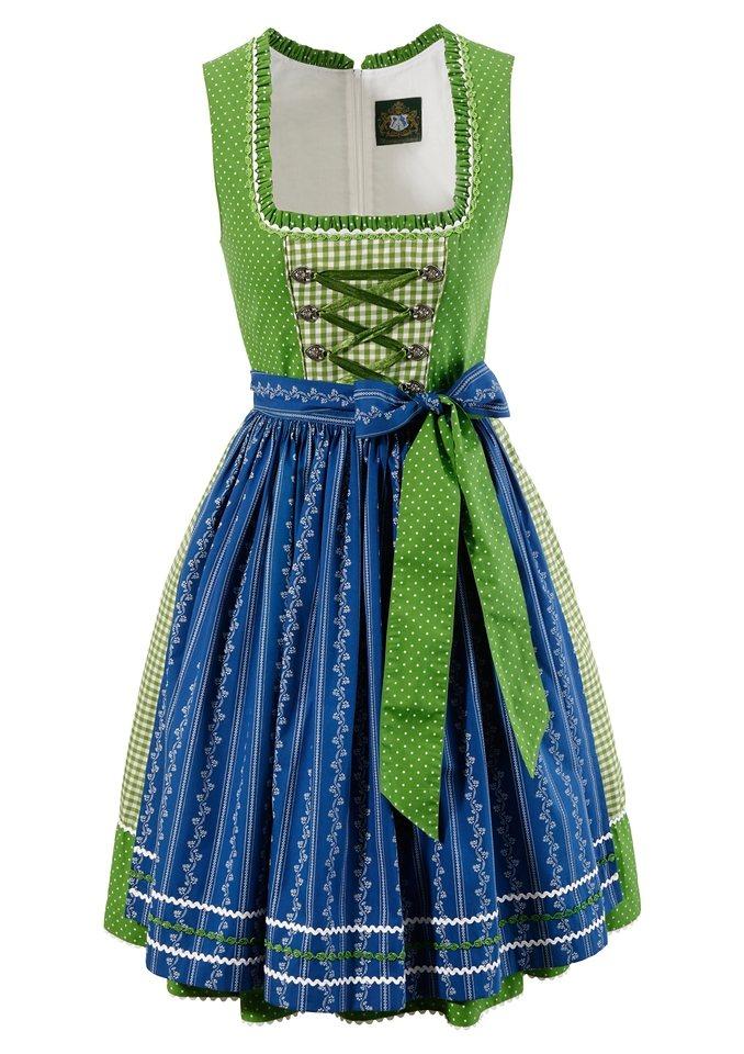 Dirndl midi mit Bänderschnürung, Hammerschmid in grün/blau