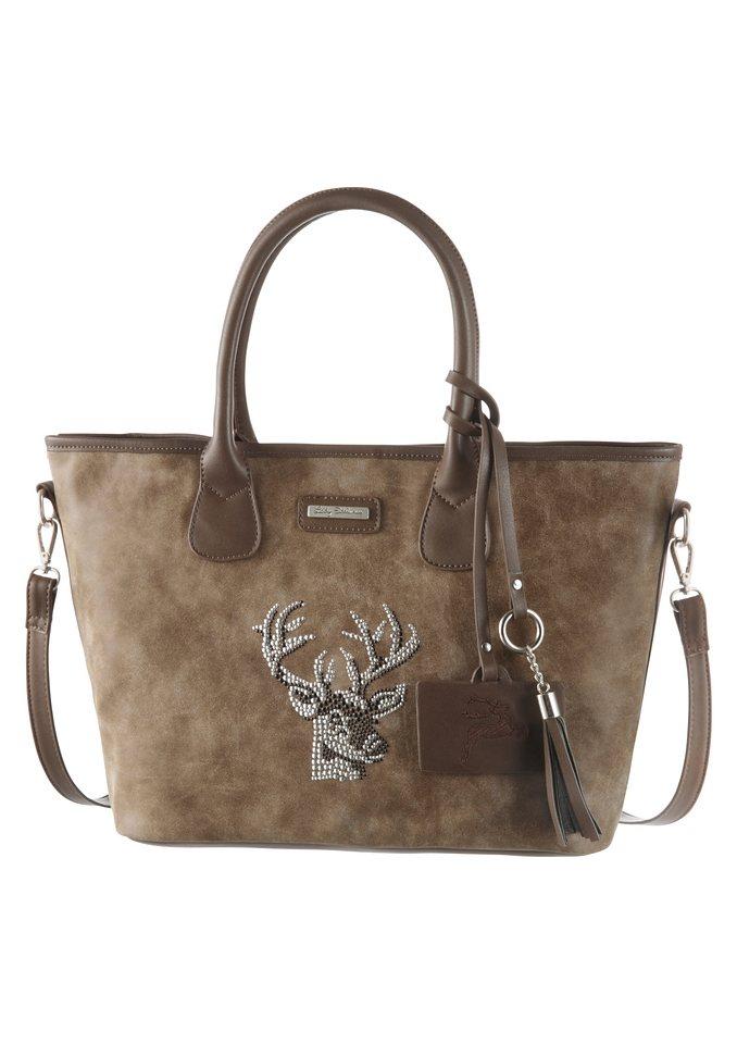 Lady Edelweiss Trachtentasche mit Hirschmotiv in braun