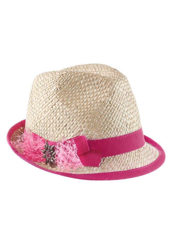 Klimm Trachtenhut mit Glitzersteinchen in pink