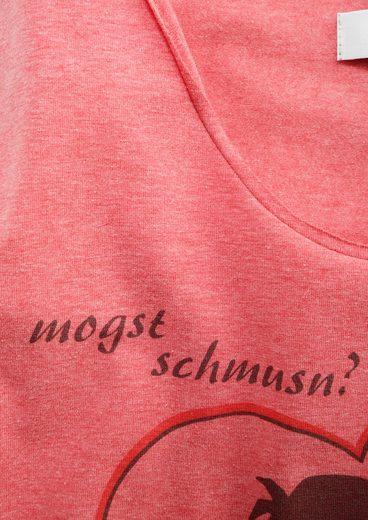 Mondkini Trachtenshirt Damen mit Druckmotiv