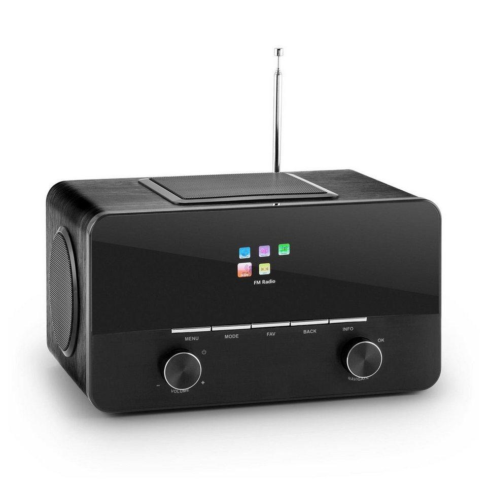 AUNA Internetradio 2.1 Mediaplayer Wi-Fi LAN USB DAB+ UKW Wecker AUX »Connect 150« in Schwarz