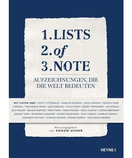 Gebundenes Buch »Lists of Note«
