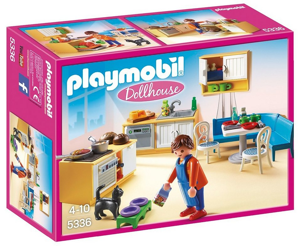 playmobil einbauk che mit sitzecke 5336 dollhouse online kaufen otto. Black Bedroom Furniture Sets. Home Design Ideas