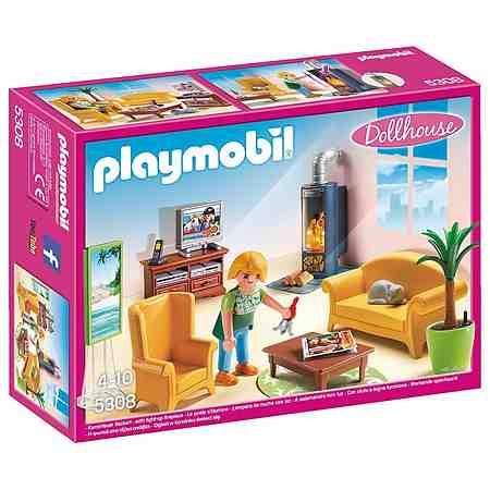 Playmobil® Wohnzimmer mit Kaminofen (5308) »Dollhouse«