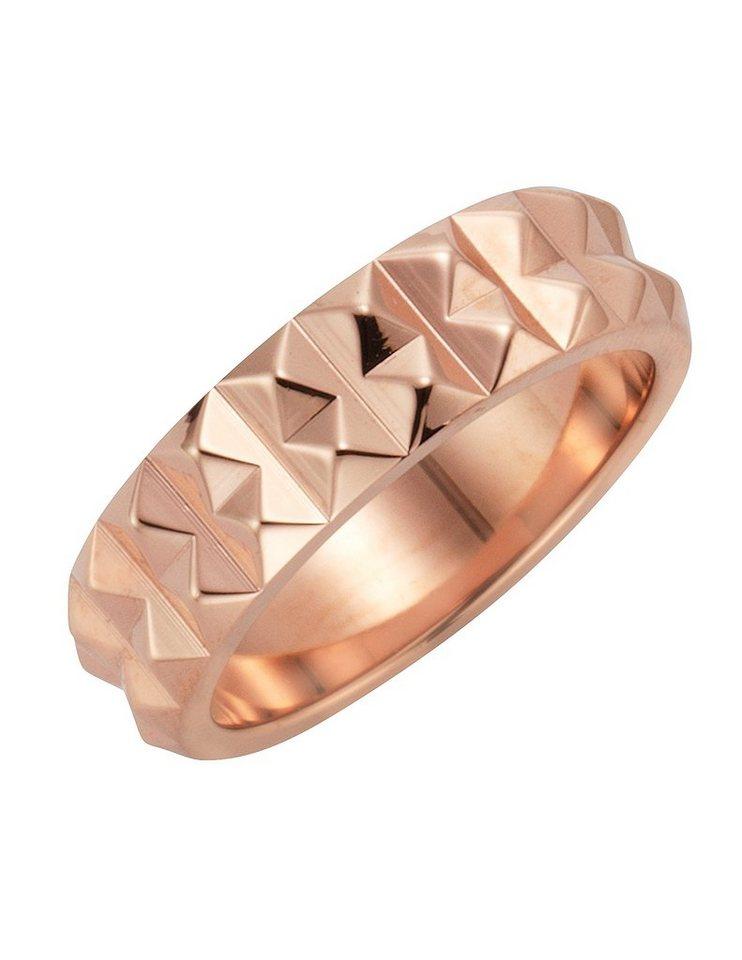 """firetti Handschmuck: Ring """"Nieten"""" in roségoldfarben"""