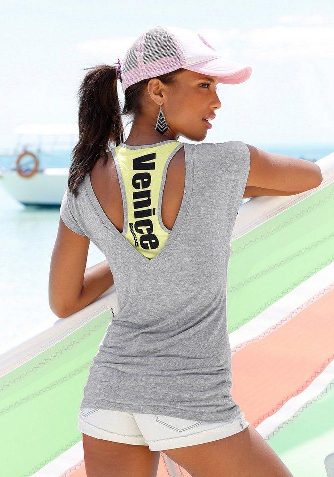 Venice Beach Strandshirt in grau meliert