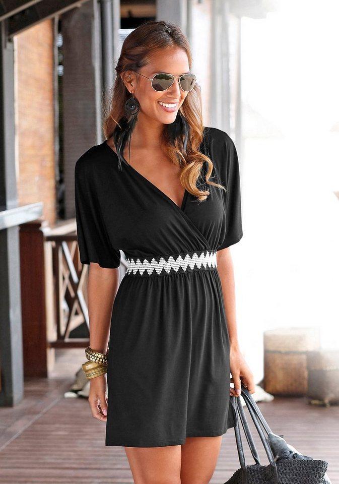 LASCANA Strandkleid in schwarz