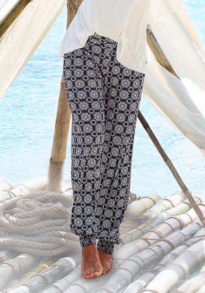s.Oliver RED LABEL Beachwear Strandhose in bedruckt