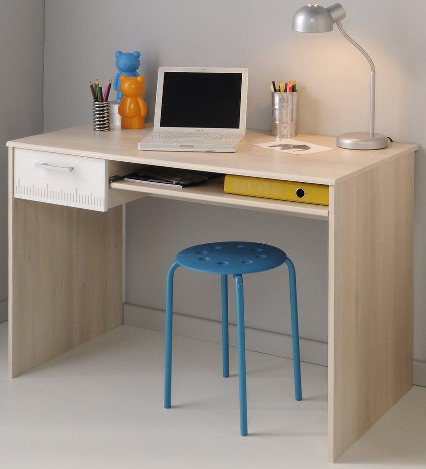 Parisot Schreibtisch »Charly« in akaziefarben/weiß