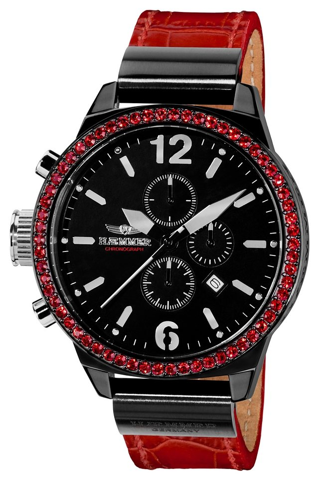 """HAEMMER GERMANY, Chronograph, """"ALENICA, UC-01"""" in rot"""