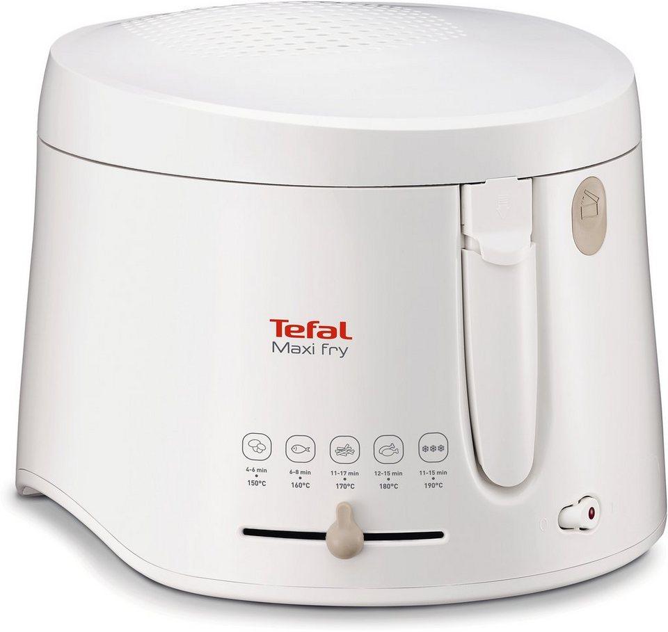 Tefal Fritteuse Maxifry FF1000, Thermogehäuse, 1900 Watt, 2,1 L Fett-Füllmenge