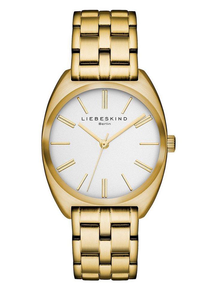 Liebeskind Berlin Armbanduhr, »METAL, LT-0006-MQ« in goldfarben