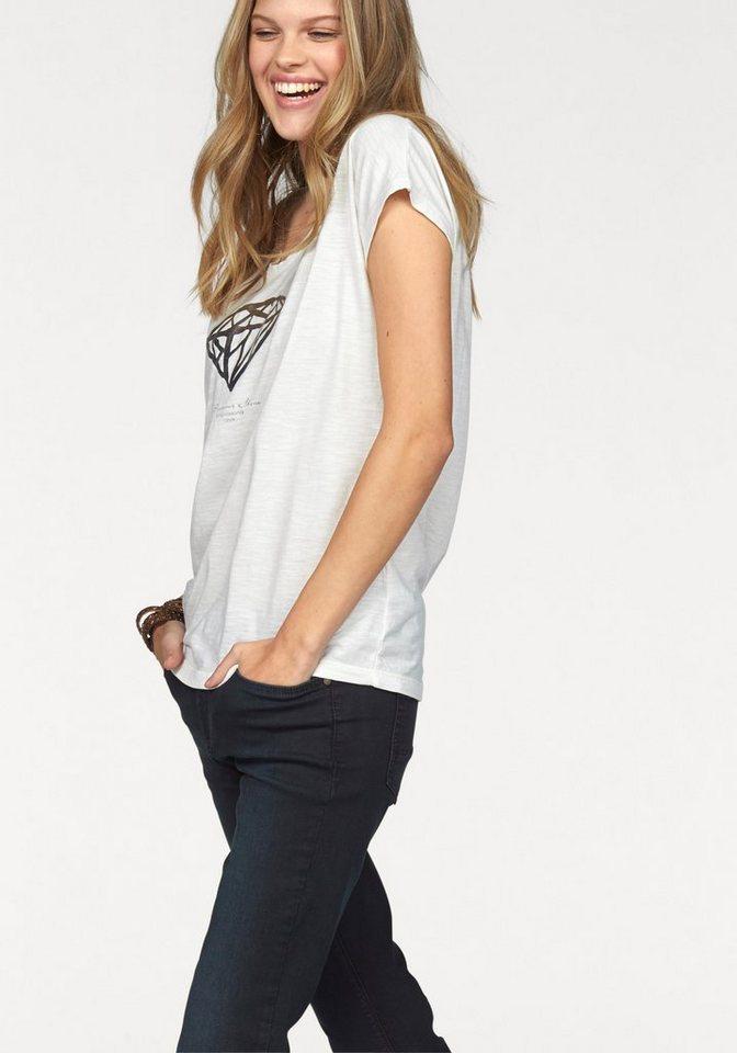 Arqueonautas Print-Shirt »Motiv Ananas« mit dekorativem Frontprint in weiß