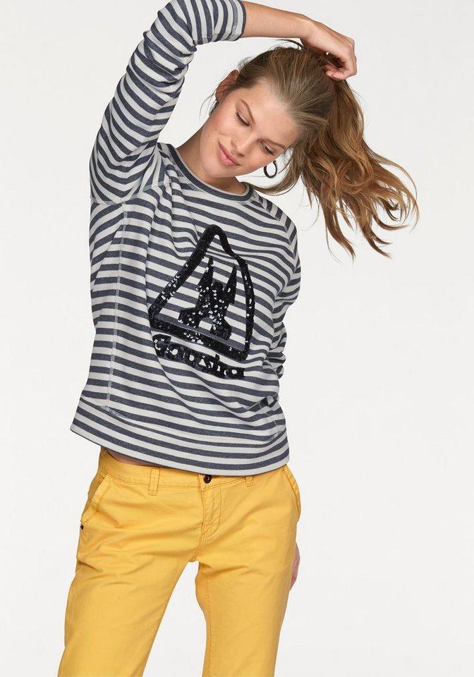 Gaastra Sweatshirt »Cavitate« im Ringel-Look in marine-weiß-gestreift