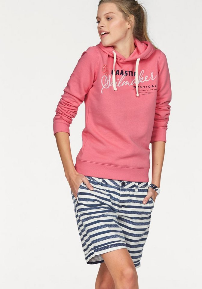Gaastra Sweatshirt »Rough Sea« mit hochwertigem Frontmotiv in pink