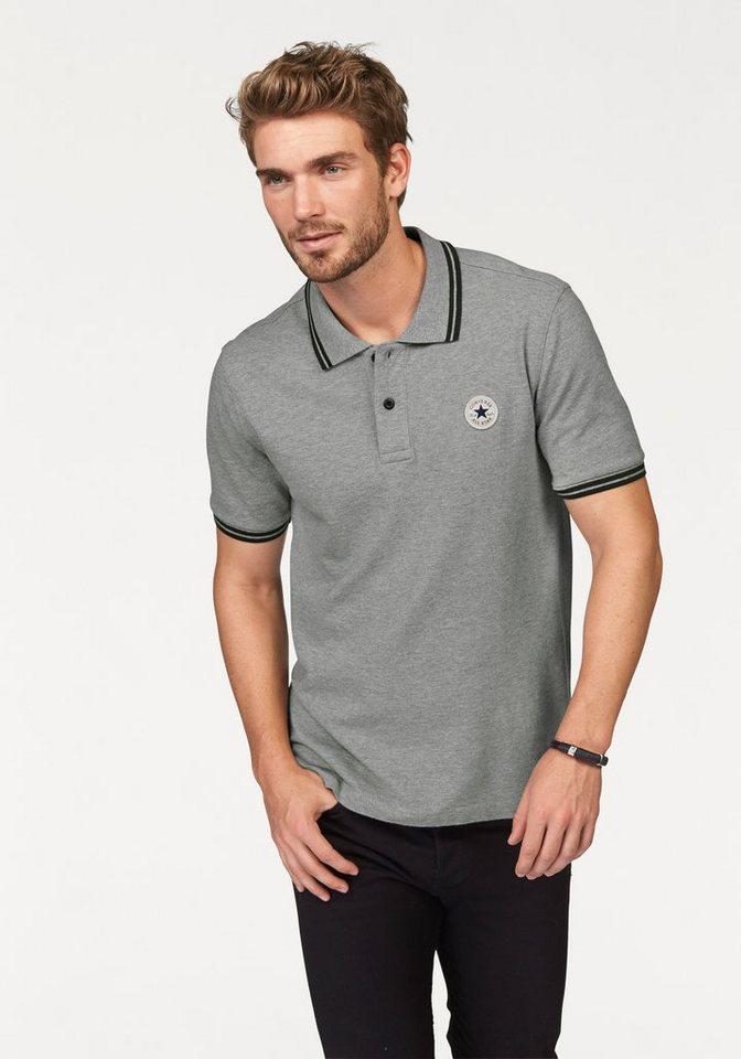 Converse Poloshirt in Grau