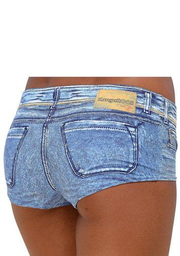 KangaROOS Bade Hotpants in angesagter Jeans-Optik