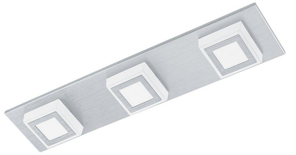 Eglo LED-Deckenleuchte, 3flg., »MASIANO« in Aluminium gebürstet