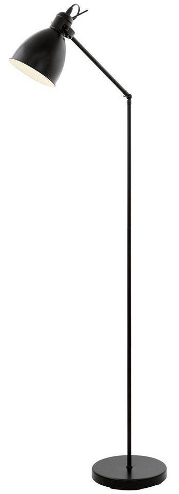 Eglo Stehleuchte, 1flg., »PRIDDY« in Stahl, schwarz, innen weiß