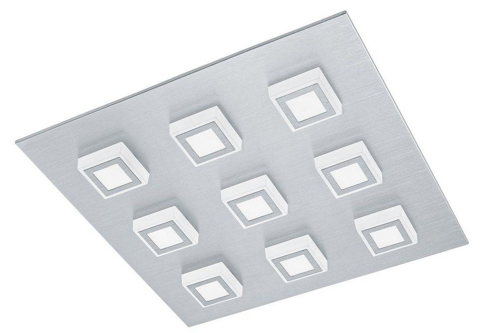 Eglo LED-Deckenleuchte, 9flg., »MASIANO« in Aluminium gebürstet