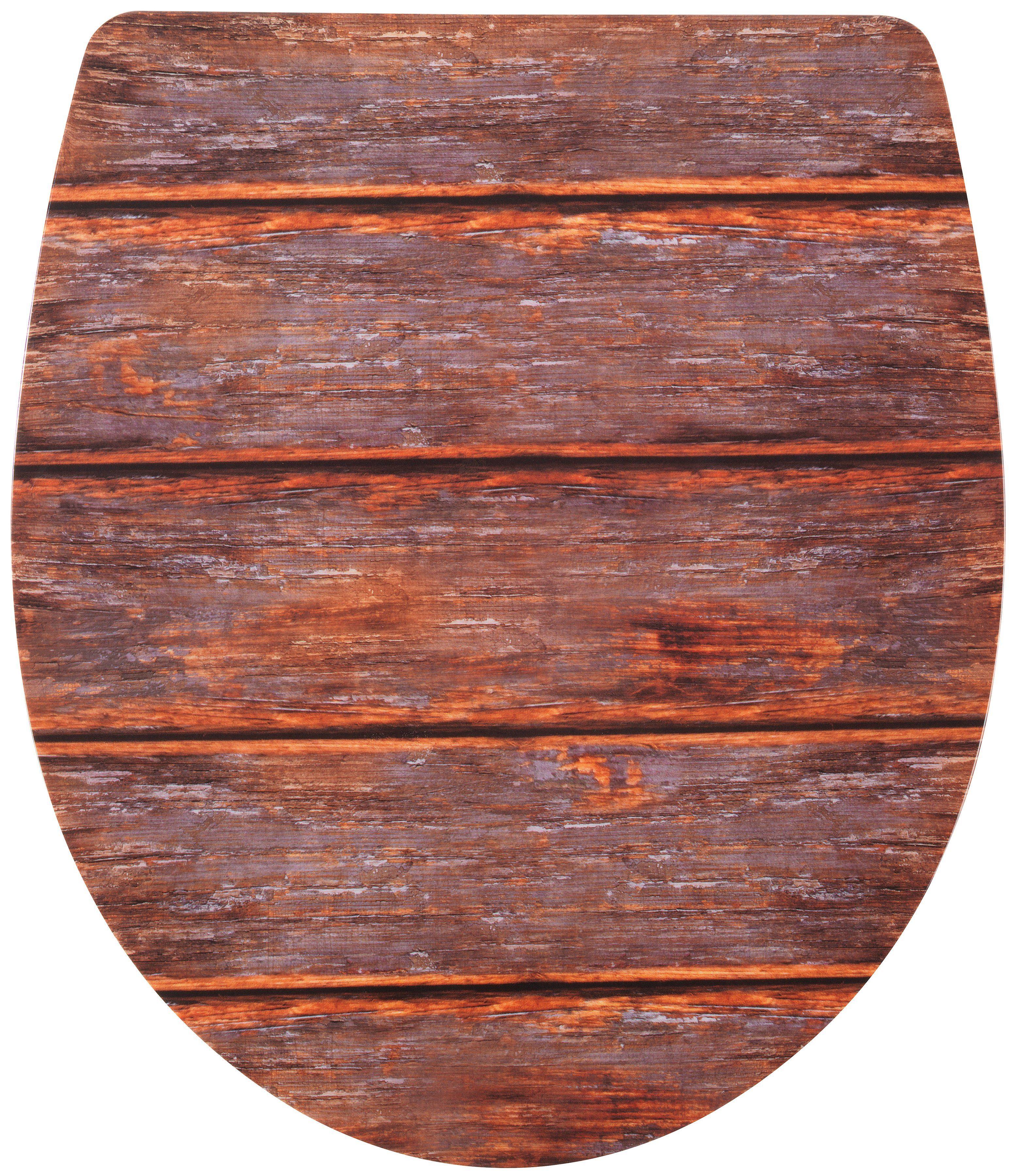 WC-Sitz »Imola Holzdekor«, Mit Absenkautomatik