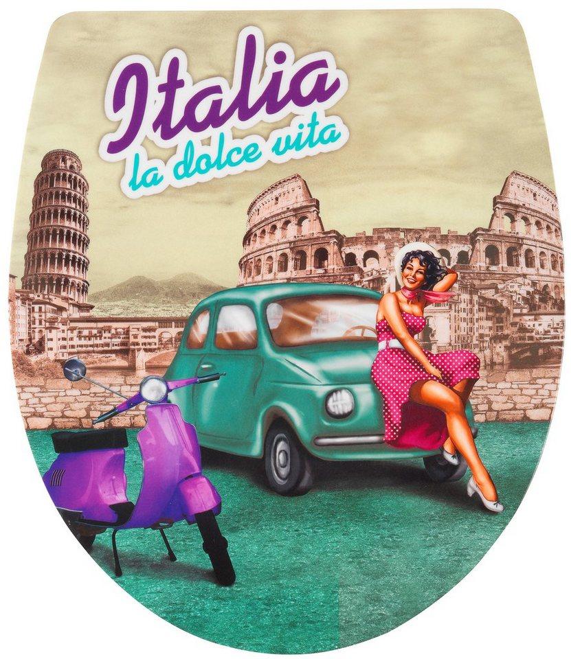 WC-Sitz »Imola La Dolce Vita«, Mit Absenkautomatik in bunt