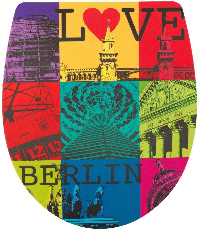 WC-Sitz »Imola Love Berlin«, Mit Absenkautomatik in bunt