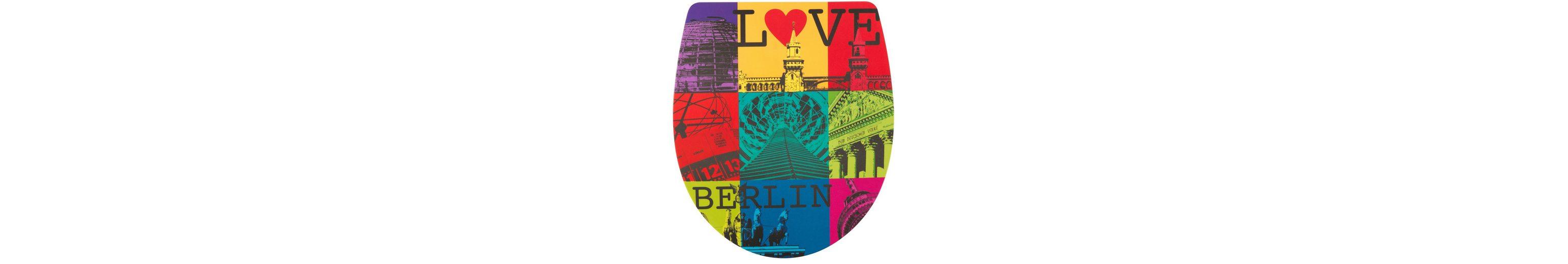 WC-Sitz »Imola Love Berlin«, Mit Absenkautomatik