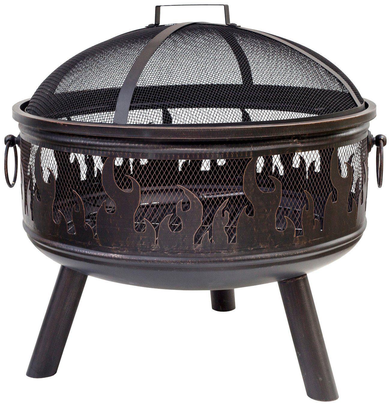 Feuerkorb »Wildfire« inkl. Funkenschutzhaube, bronzefarben