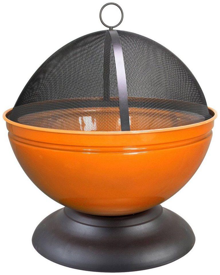 Feuerschale »Globe« inkl. Funkenschutzhaube, orange in orange