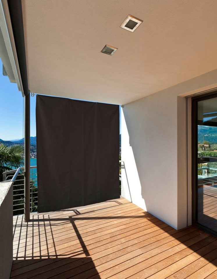Balkonsichtschutz »Sicht- und Sonnenschutz« in grau