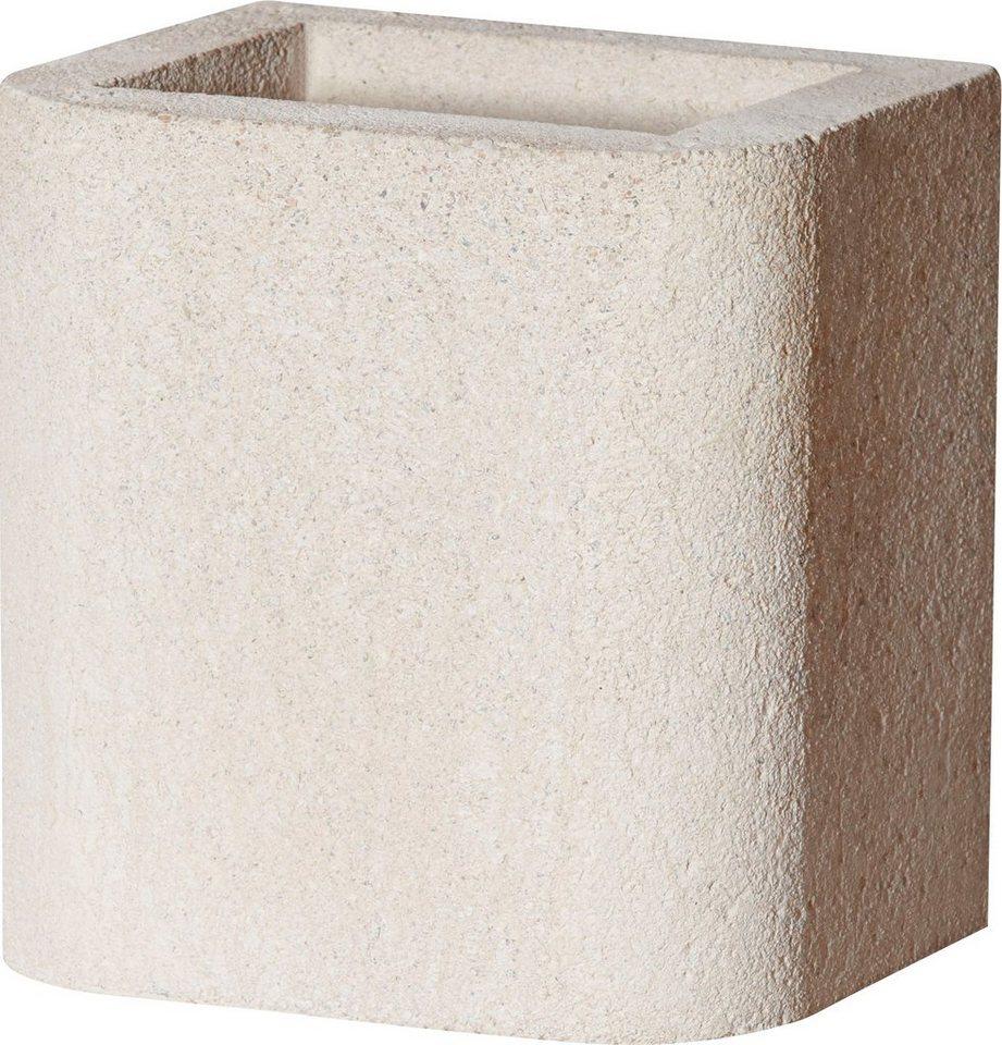 BUSCHBECK Kaminverlängerung »Standard«, für BUSCHBECK Gartengrillkamine, B/T/H: 27/33/34 cm, weiß in weiß