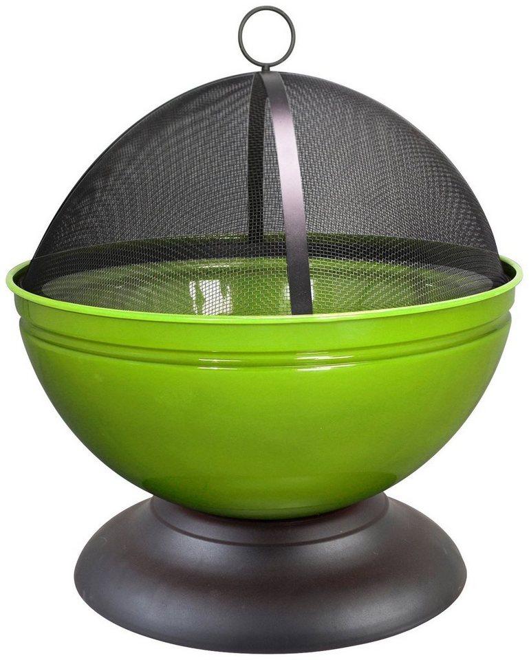 Feuerschale »Globe« inkl. Funkenschutzhaube, hellgrün in grün