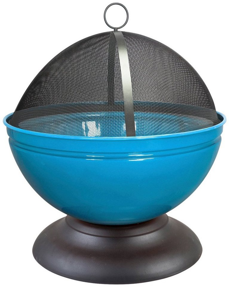 Feuerschale »Globe« inkl. Funkenschutzhaube, blau in schwarz