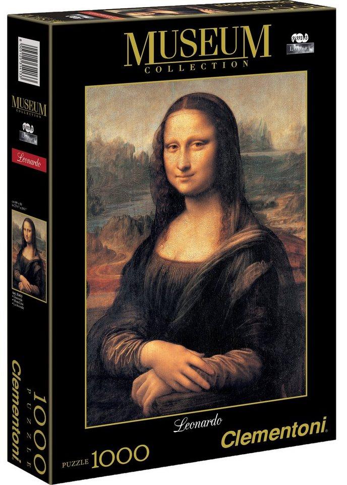 Clementoni Puzzle, 1000 Teile, »Leonardo - Mona Lisa«