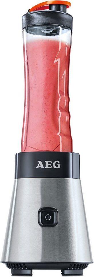 AEG Standmixer Sport Mini Mixer SB 2500, 300 Watt, Stainless Steel / Black in Stainless Steel / Black