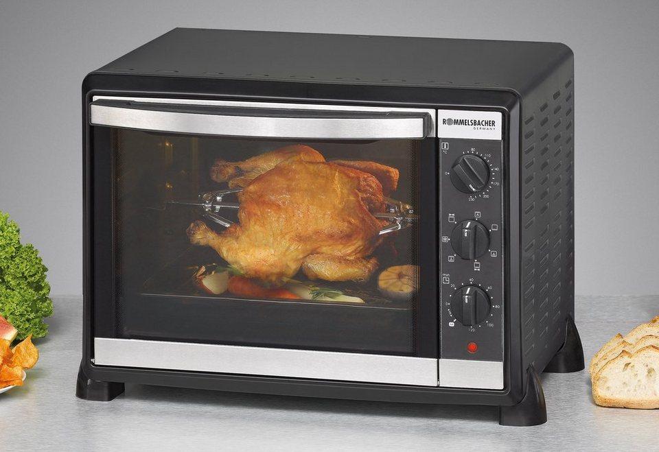 Rommelsbacher Back/Grill-Ofen »BG 1550«, 30 Liter Volumen, 1550 Watt in schwarz