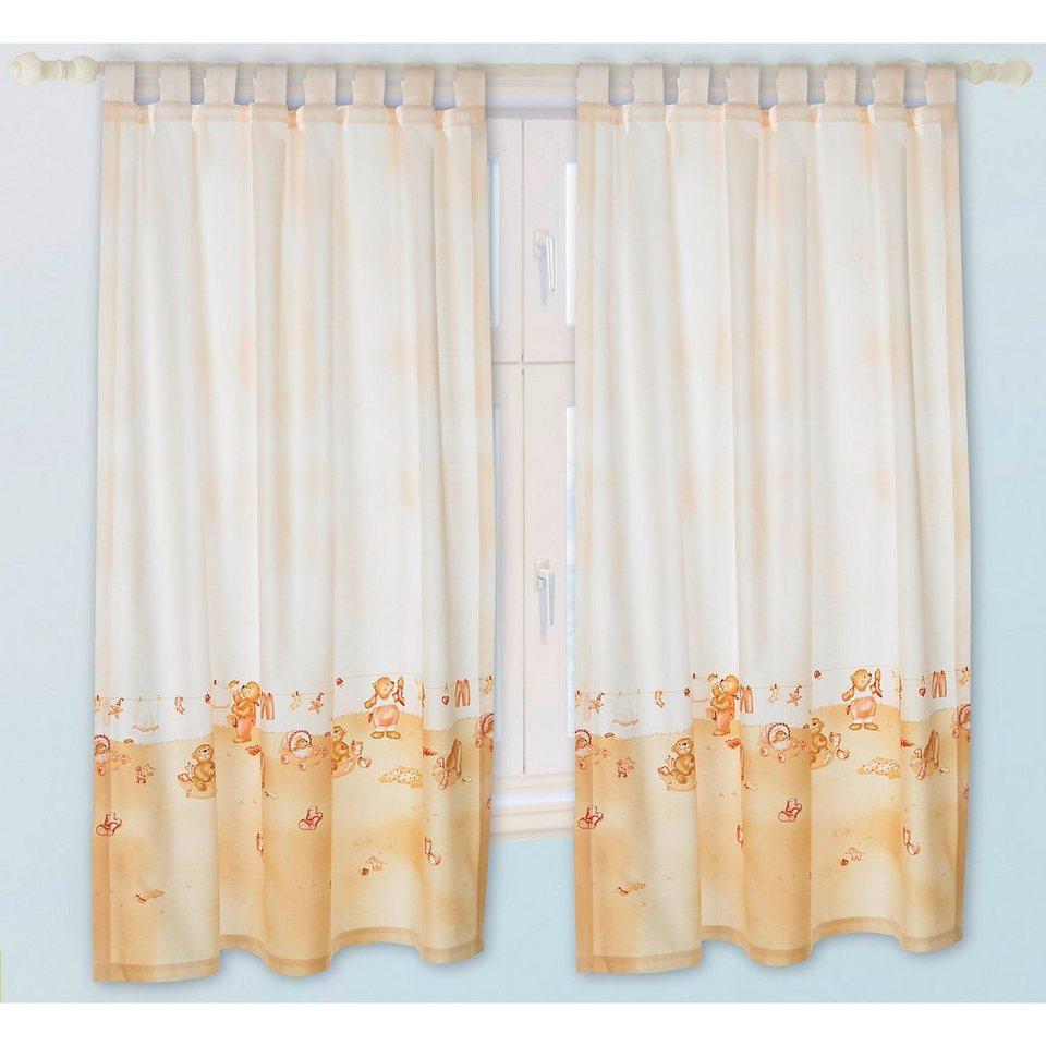 Alvi Vorhang Set Busy Bär beige je 130 x 150 cm (2 Schals) in beige