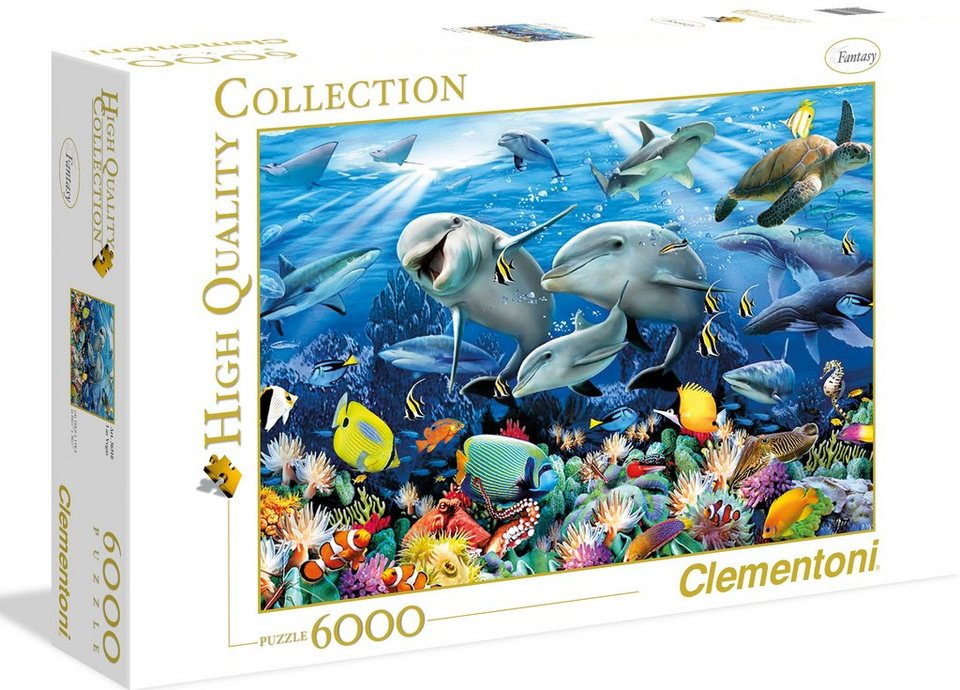 Clementoni Puzzle, 6000 Teile, »Howard Robinson - Unter Wasser«