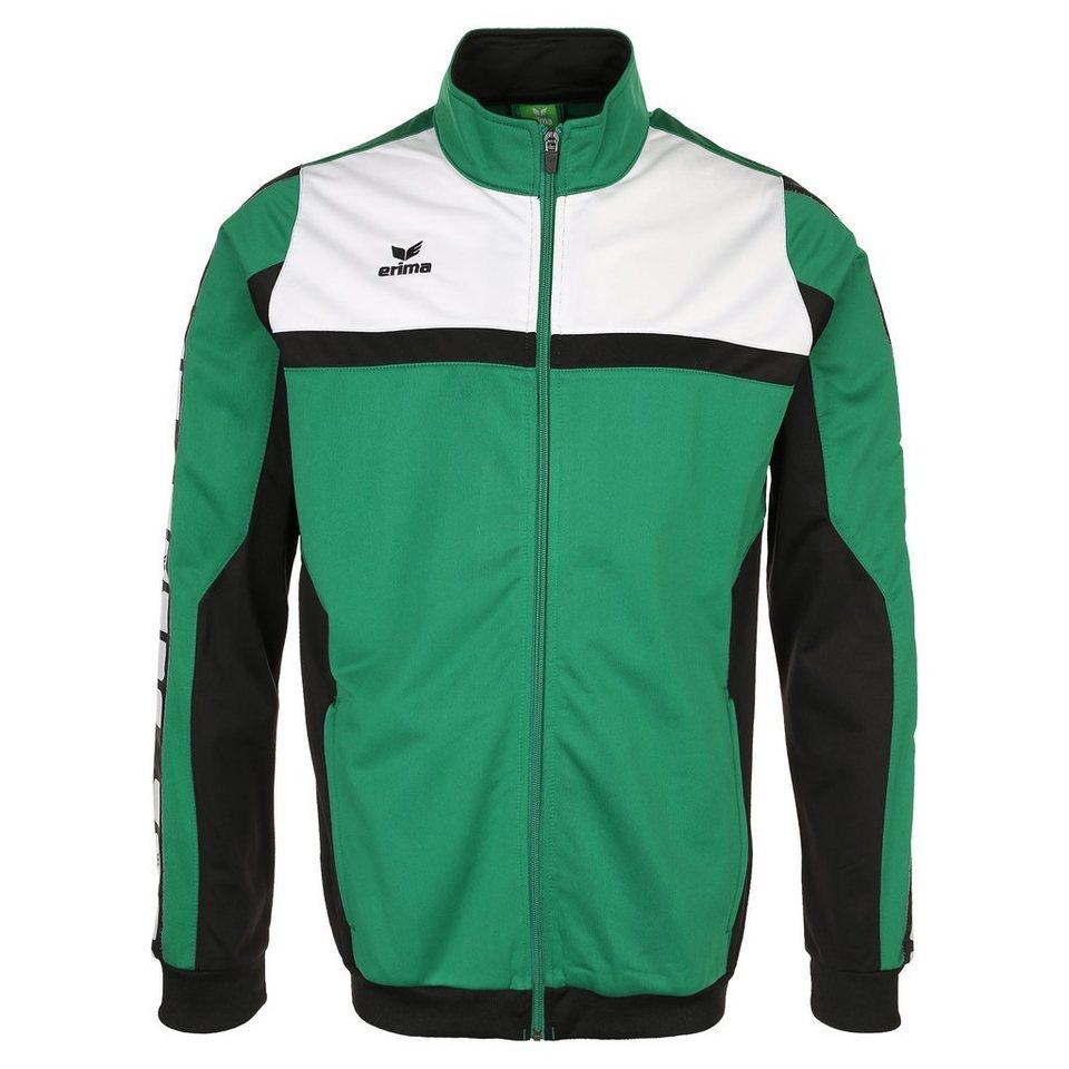 ERIMA 5-CUBES Polyesterjacke Herren in smaragd/schwarz/weiß