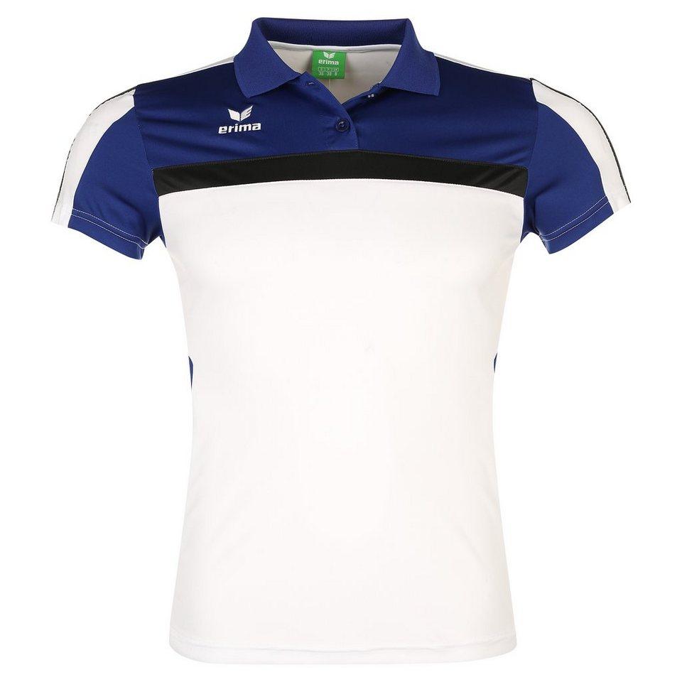 ERIMA 5-CUBES Poloshirt Damen in weiß/blau/schwarz