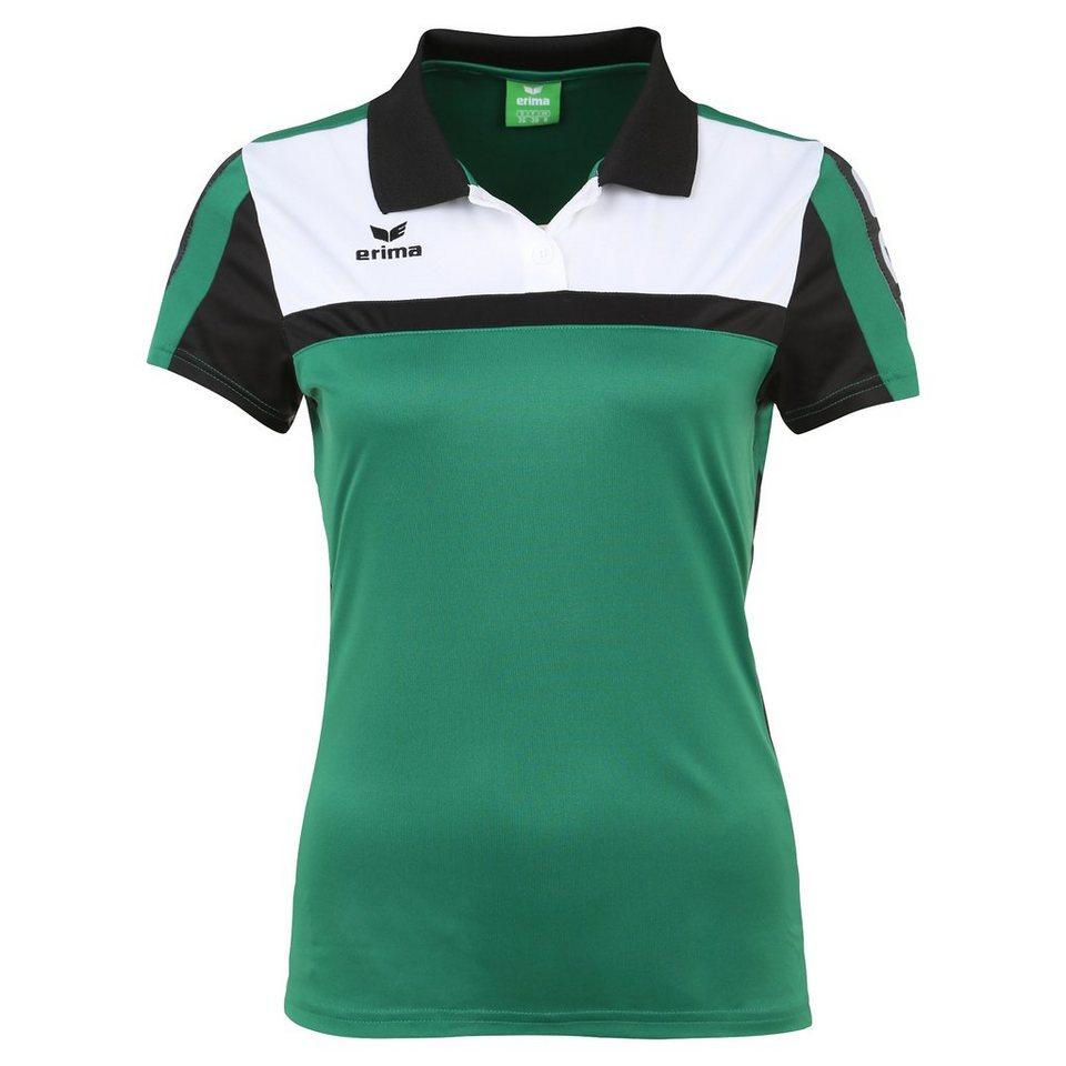 ERIMA 5-CUBES Poloshirt Damen in smaragd/schwarz/weiß
