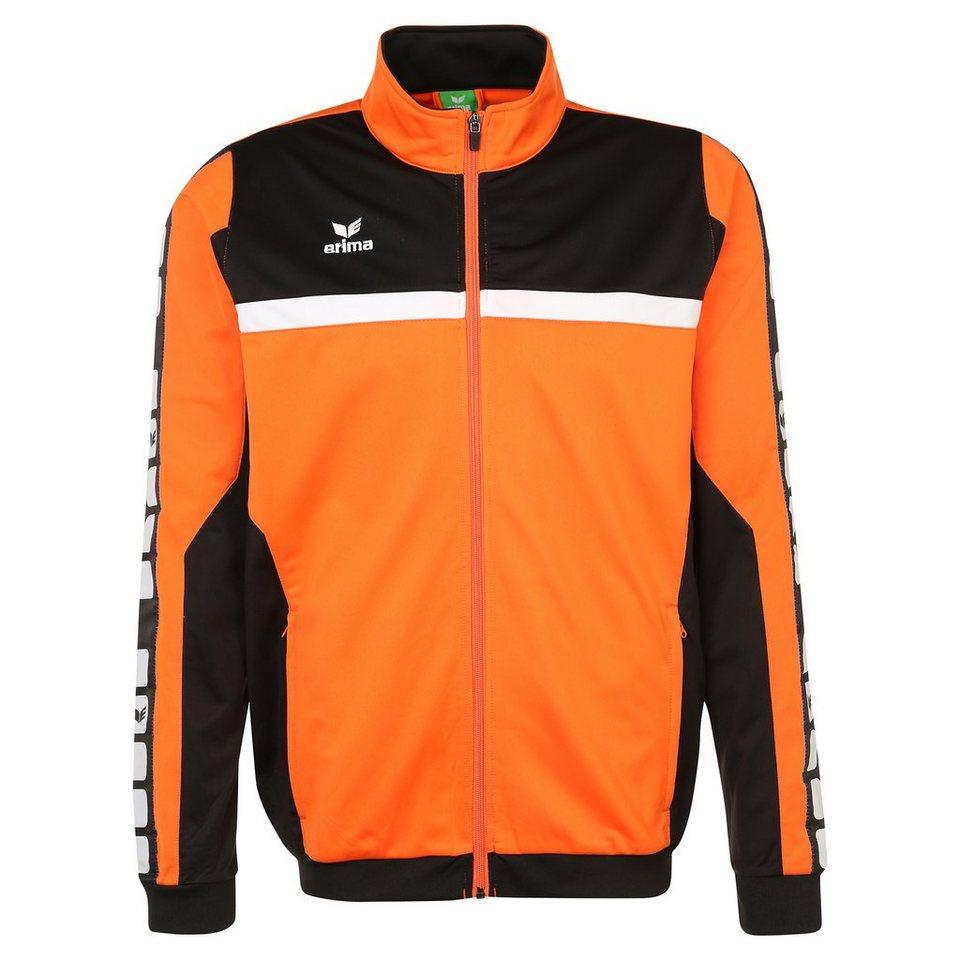 ERIMA 5-CUBES Polyesterjacke Herren in orange/schwarz/weiß